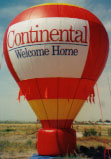 Cold-air advertising inflatables manufactured by Arizona Balloon.