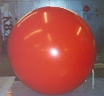 big helium red helium balloon
