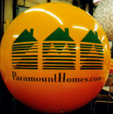 Advertising helium balloon - 7 ft. helium balloon with Paramount Homes logo