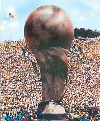 Giant Globe Balloon would lift 200lb. person