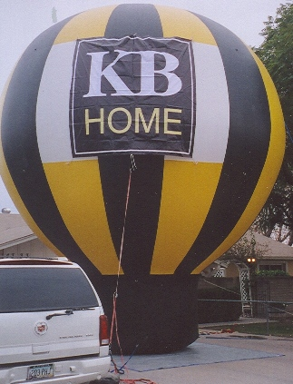 giant balloon-25ft-advertising balloon with KB Home logo