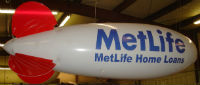 Metlife logo on advertising blimp manufactured by Arizona Balloo