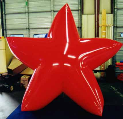 big star shape balloon red color