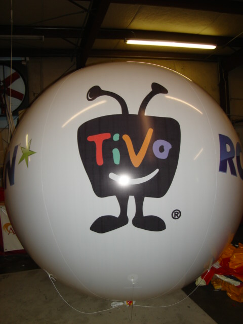 giant balloon with TIVO logo
