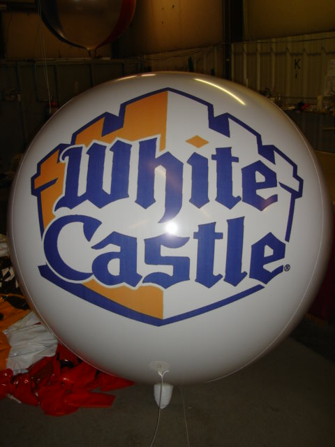 Giant Helium Balloon with White Castle Hamburgers logo