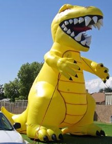 huge balloon - 25 ft. zilla monster for promotions
