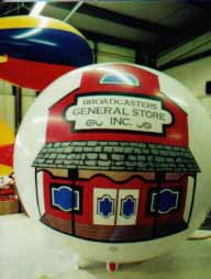 7' helium balloon with complex artwork-Broadcasters General Store