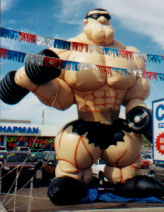 Custom Advertising Inflatables - Muscle Man cold-air balloon. All types of giant balloons.