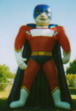 Super Hero advertising inflatables- We manufacture custom balloons to your specifications.