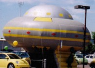 UFO advertising inflatables for sales and promotions.
