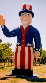 Inflatable Uncle Sam - 25ft. cold-air balloon
