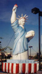 Statue of Liberty balloon - rental balloons available. Cold-air inflatables - largest rental selection of advertising balloons in USA. Stock and custom cold-air balloons available. Giant balloons made in USA.