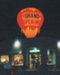 Cold-air advertising balloon shape with light