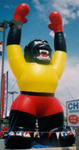 Custom Advertising Inflatables - Gorilla - yellow black - large balloons increase traffic.