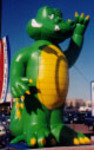 Custom Advertising Balloon - Alligator 25ft.-Alligator inflatables for sale and rent.