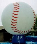 cold air balloon - 25ft. tall cold-air baseball inflatables for sale or rent.