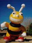 Big Bee! 25' tall cold-air inflatable.