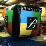 Custom Balloon - cube with artwork, many custom shapes available.