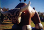 Custom Inflatable - Bull - rental balloons available