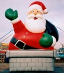 Chimney Santa - Christmas cold-air inflatables