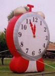 clock advertising rental inflatables
