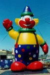 Clown Inflatables - giant 25ft. Clown balloons