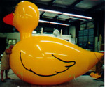 Duck - helium advertising inflatable. Giant balloons for events and sales.