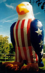 Eagle RWB advertising patriotic inflatables