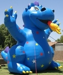 Advertising Inflatables - 25ft. tall Fire Dragon cold-air advertising balloon available for sale and rent. Balloon Advertisement.