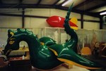 Flying Dragon - 15' custom helium shape. Advertising blimps work.
