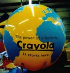 Globe balloon with additional artwork - Crayola