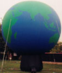 Globe inflatables - Giant cold-air earth balloons for sale and rent.