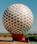 Golf ball inflatables - giant 25ft. tall golfball balloons. Great traffic builders for your sale or event.