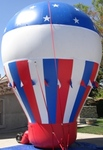 Giant Balloons - Hot air balloon shape cold-air advertising inflatables available for sale and rent.