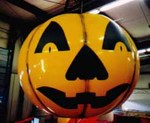 Jack O'Lantern - 7' helium balloon. Great advertising balloon.