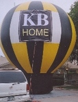 Giant Balloons - hot-air balloon Phoenix shape cold-air advertising balloons. Great traffic builders for your sale or event.