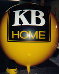 helium advertising balloon - KB Home Logo