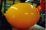 Lemon - 6' helium inflatable fruit - standard shape