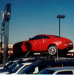 Car Balloons - giant auto inflatables - Nissan 350Z cold-air inflatable.