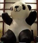 Panda Balloons - giant 25ft. tall Panda cold-air inflatables.