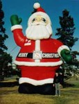Santa inflatables and Santa Claus balloons available for sale and rent.