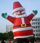 Santa Claus cold-air balloons - 60ft. Santa inflatables available!