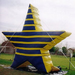 Star inflatables - Giant Star balloons available for purchase and rent.