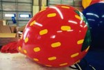 Strawberry - 7' helium inflatable - standard shape - strawberry balloon