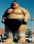 Sumo Wrestler Balloons - Giant 25ft. tall Sumo Wrestler cold-air inflatables.