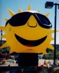 custom advertising sun balloon - balloon rentals