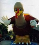 Turkey Balloons - Giant 25ft. Turkey cold-air inflatables available for sale and rent.