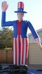 Uncle Sam inflatables - economy model - easy to set-up!