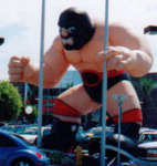 Wrestler Balloons - Masked Wrestler Balloons - Masked Wrestler inflatables - 25ft. Wrestler cold-air inflatable
