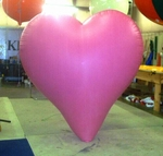 heart shape inflatable helium balloons